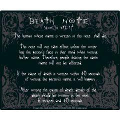 Death Note regels muismat
