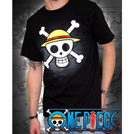 One Piece T-shirt: Skull with map