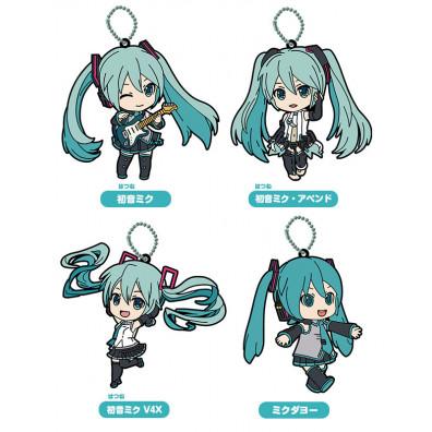 Hatsune Miku Nendoroid Plus Rubber Keychains (4 stuks)