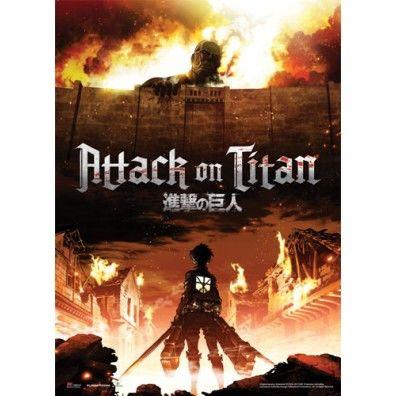 Attack on Titan Key Art Wallscroll