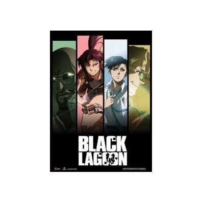 Black Lagoon Crew Panel Wall Scroll