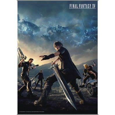 Final Fantasy XV - Noctis & Team Wall Scroll