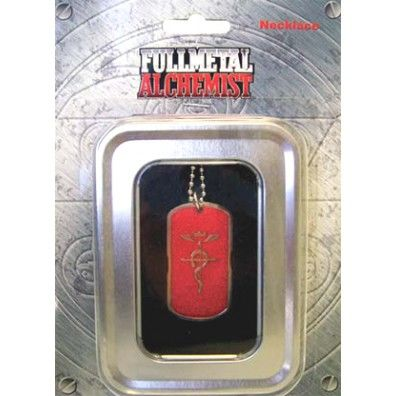 Cross of Flamel Red Dog Tag Ketting