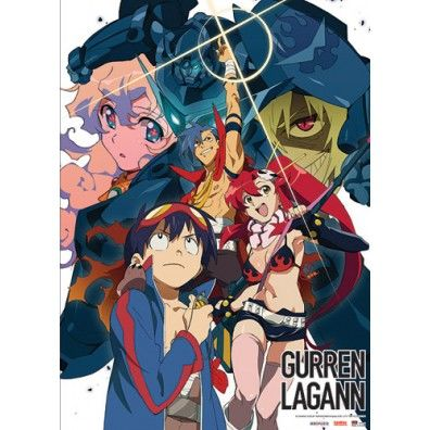 Gurren Lagann Group Collage Wallscroll