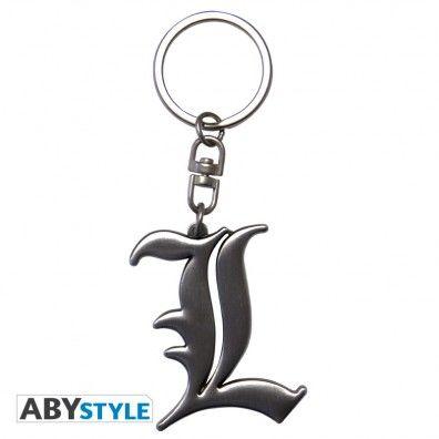 L Symbool 3D embleem sleutelhanger