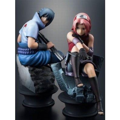 Naruto Shippuden: Chess Piece Collection- Sasuke & Sakura