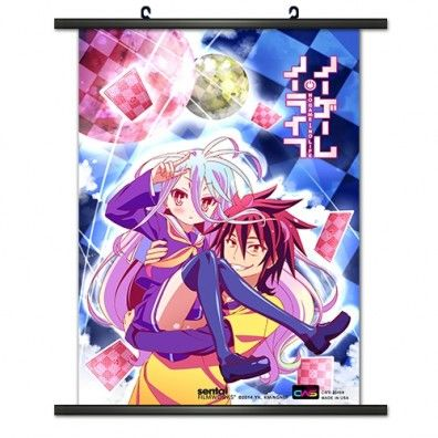 No Game No Life Shiro & Sora Wallscroll