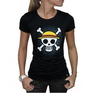 One Piece T-shirt: Skull with map (woman)