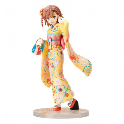 A Certain Scientific Railgun T PVC Statue 1/7 Mikoto Misaka Furisode Version 24 cm