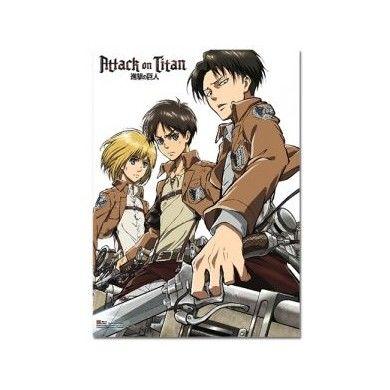 Armin, Eren, Levi Key Art Wallscroll