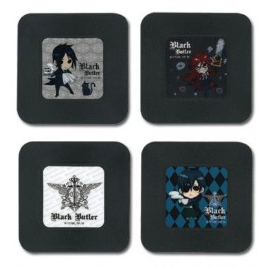 Black Butler Anime Onderzetters Set - Chibi Characters