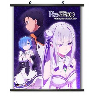 Re:Zero Subaru, Rem & Emila Wallscroll
