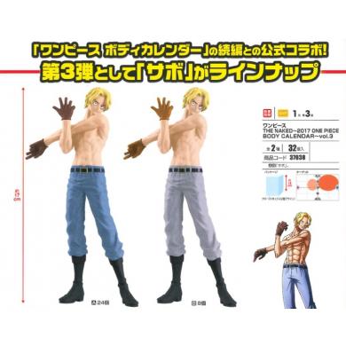 Sabo - One Piece The Naked ~2017 Body Calendar PVC Figuur